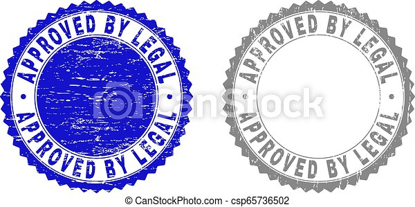 Textured APPROVED BY LEGAL Scratched Watermarks - csp65736502