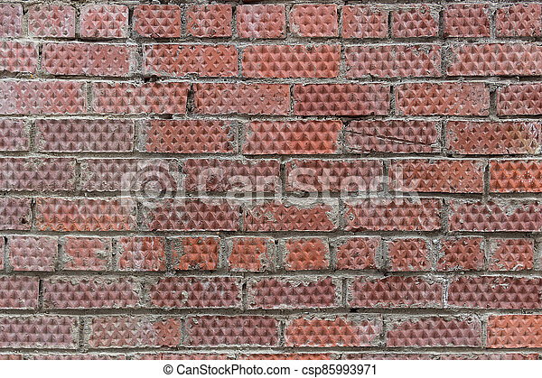 Textured background of red brick wall - csp85993971