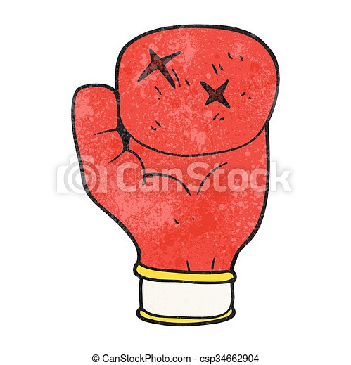 freehand textured cartoon boxing glove vector clipart search rh canstockphoto com boxing glove vector image hanging boxing gloves vector free