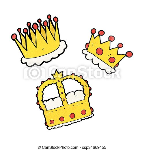 freehand textured cartoon crowns clipart vector search rh canstockphoto com clip art gold crowns free clipart of crowns