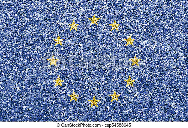 Textured flag of the EU in nice colors - csp54588645