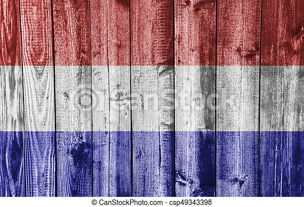 Textured flag of the Netherlands in nice colors - csp49343398