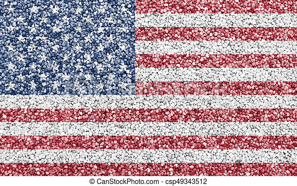 Textured flag of the USA in nice colors - csp49343512