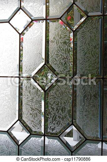 Textured Glass In Door Window Panels   Csp11790886