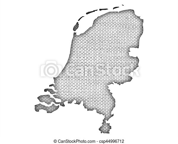 Textured map of the Netherlands in nice colors - csp44996712