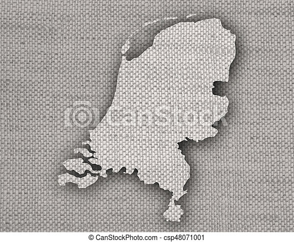Textured map of the Netherlands in nice colors - csp48071001