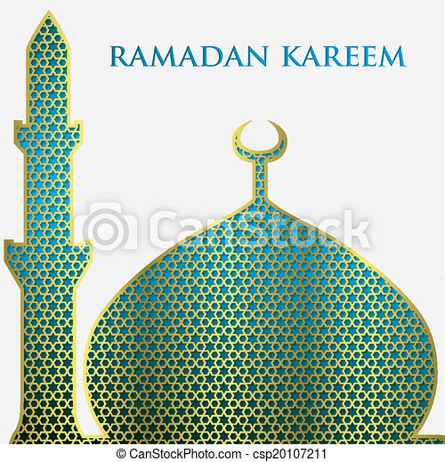 Textured mosque card in vector format. - csp20107211