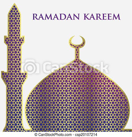 Textured mosque card in vector format. - csp20107214