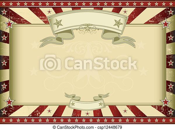 Textured red retro certificate - csp12448679