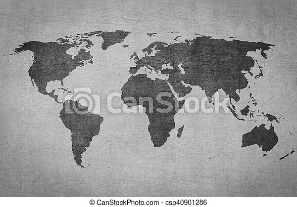 Textured vintage world map on grey background textured vintage textured vintage world map on grey background csp40901286 gumiabroncs Choice Image