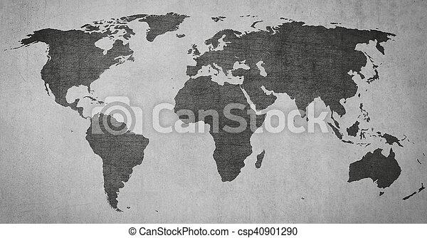 Textured vintage world map on grey background textured vintage textured vintage world map on grey background csp40901290 gumiabroncs Gallery