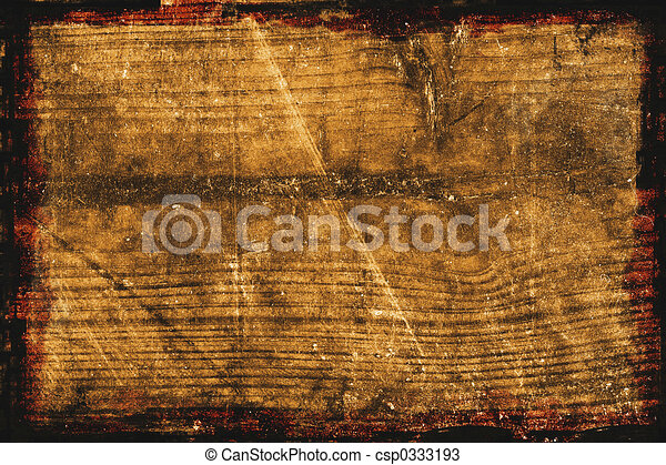 Textured Wood Background With Border Frame