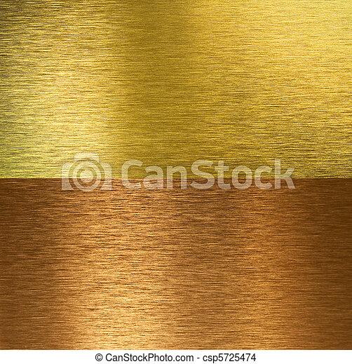 texturen, gestikken, messing, geborstelde, brons - csp5725474