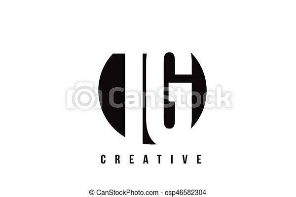 Tg T G White Letter Logo Design With Circle Background