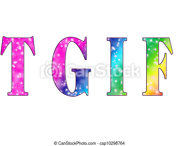tgif colorful fun initials thank goodness its friday stock rh canstockphoto com tgif friday clipart tgif friday clipart