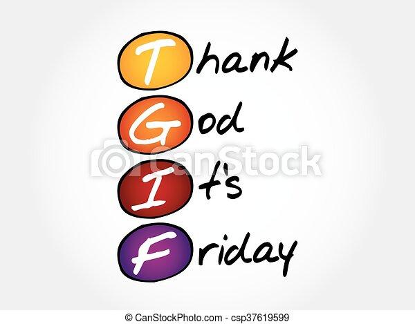 tgif thank god it s friday acronym concept eps vectors search rh canstockphoto com funny tgif clipart tgif clipart free