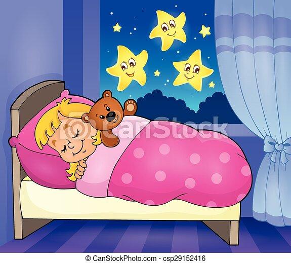 Theme 2 Dormir Image Enfant Eps10 Illustration Image Dormir Theme Vecteur Enfant 2 Canstock