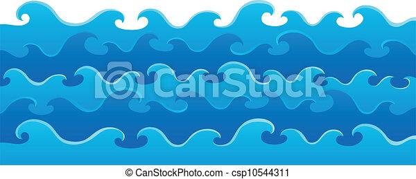 thème, 5, image, vagues - csp10544311