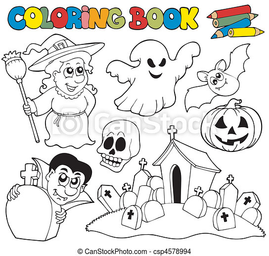 Theme Coloration Halloween Livre