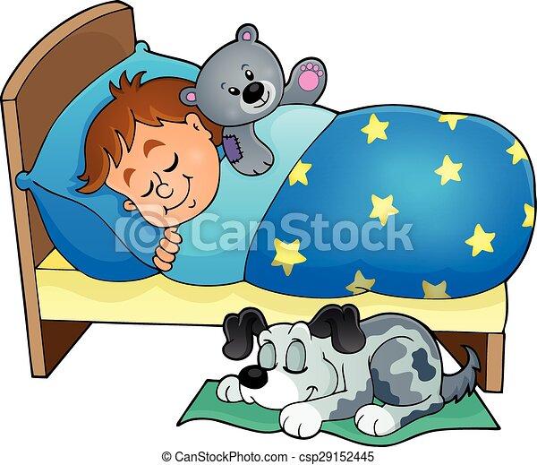 th me dormir 5 image enfant eps10 illustration. Black Bedroom Furniture Sets. Home Design Ideas