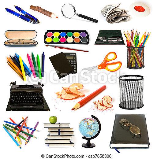 thème, education, groupe, objets - csp7658306