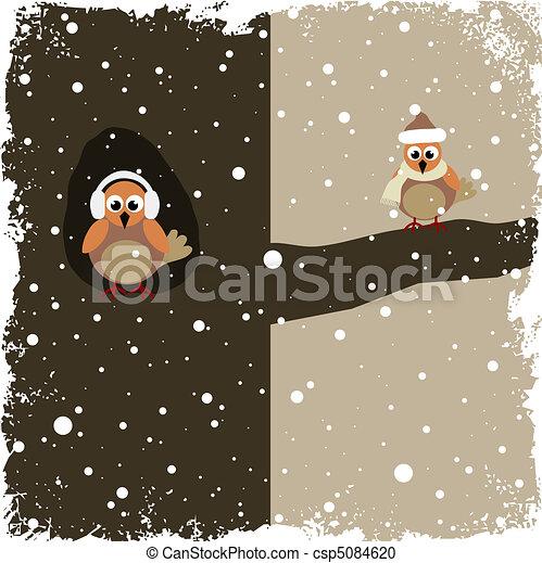 thème, hiver - csp5084620