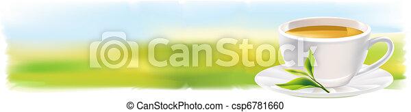 thé, panorama, natu, tasse - csp6781660