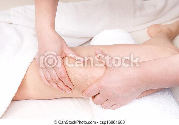 thérapeute, cellulite, anti, masage - csp16081660