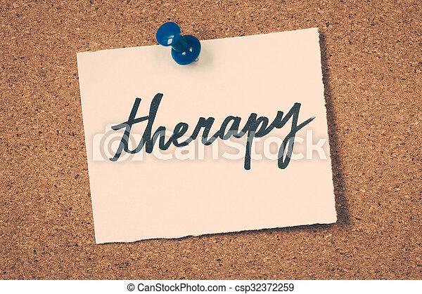 thérapie - csp32372259