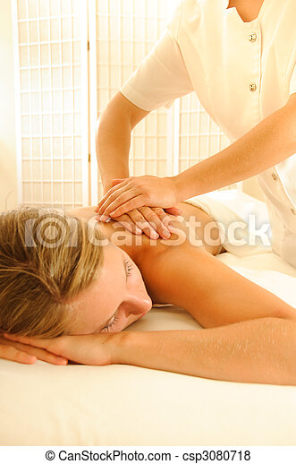 thérapie, masage - csp3080718