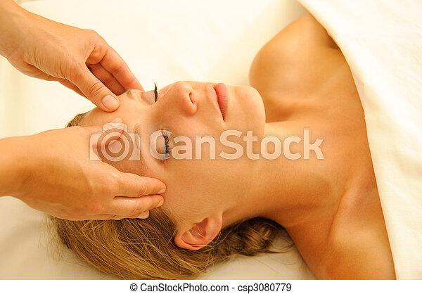 thérapie, masage - csp3080779