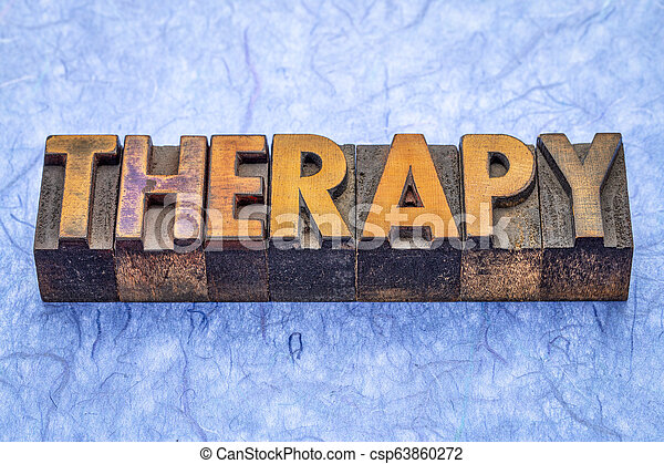 thérapie, type, bois, mot - csp63860272