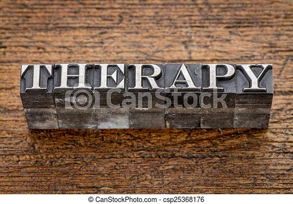 thérapie, type, métal mot - csp25368176