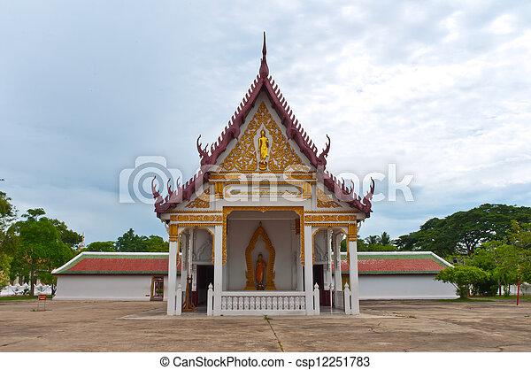 thaïlande, temple bouddhiste - csp12251783