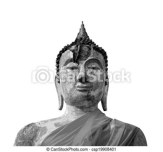 thaïlande, yaichaimongkol, wat, bouddha, ayutthaya - csp19908401