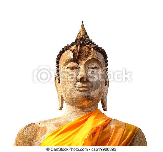 thaïlande, yaichaimongkol, wat, bouddha, ayutthaya - csp19908393