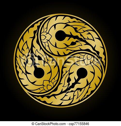 Yang with 3 parts yin symbol The Dharma