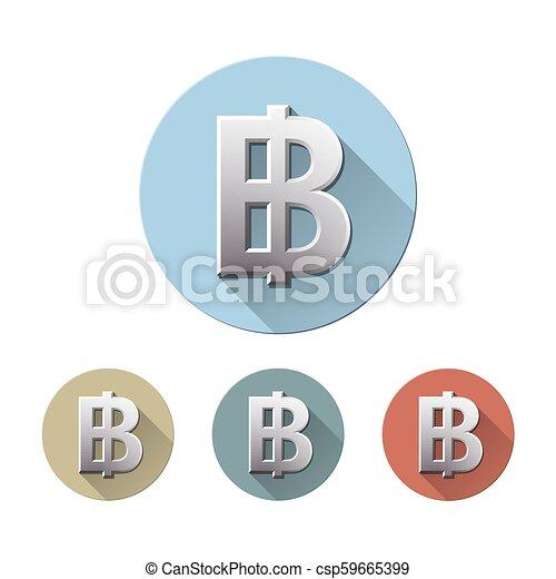 Thai baht symbol - csp59665399