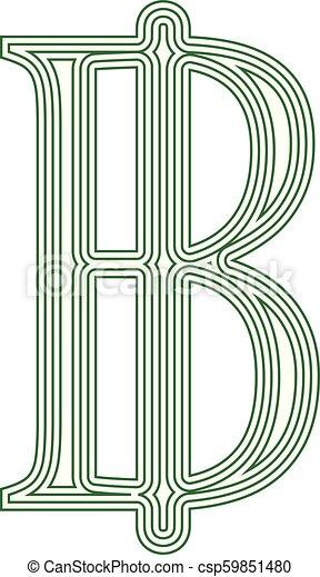 Thai Baht Thailand symbol icon striped - csp59851480
