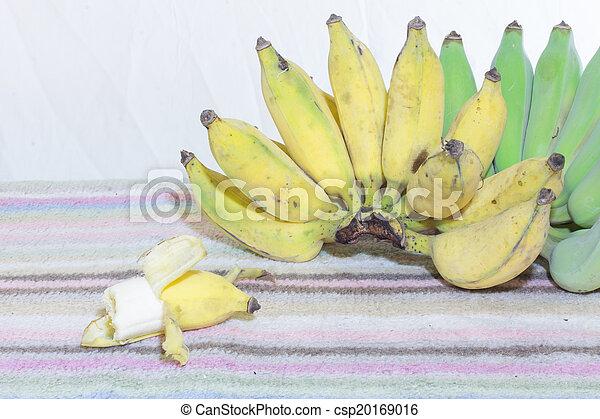 Thai Bananas Still Life, bite Banana - csp20169016