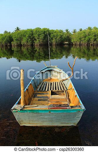 Thai boat in the lake - csp26300360