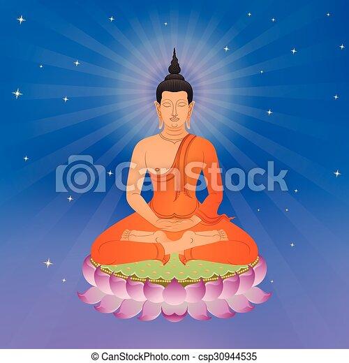 Thai buddha on lotus flower vector illustration mightylinksfo