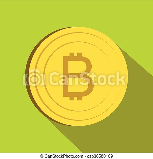 Thai currency symbol baht icon, flat style - csp36580109