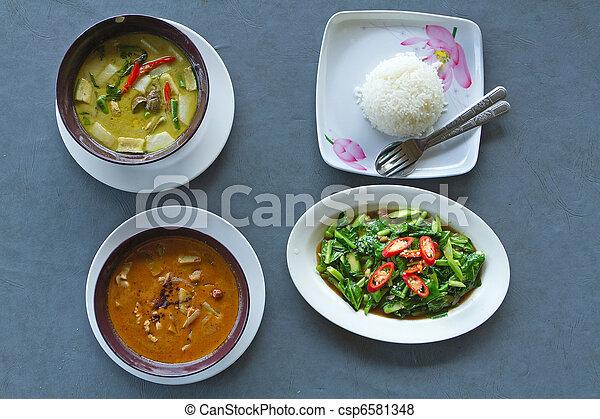 thai curry food - csp6581348