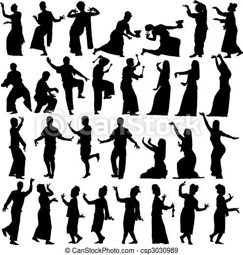 Thai dancers - csp3030989