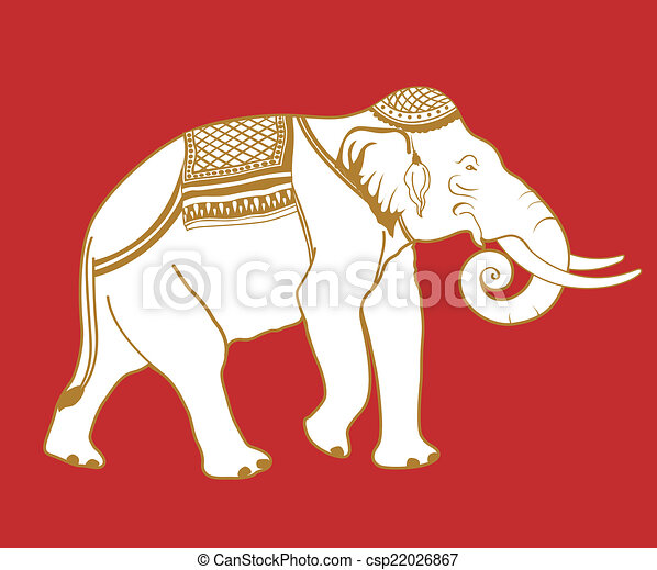 Thai Elephant Illustration Of Thai Elephant