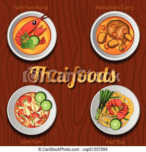 Thai Food 888 - csp51337094