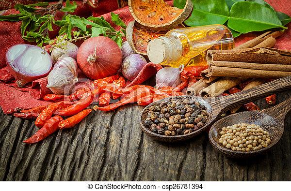 Thai food Cooking ingredients. - spice tast - csp26781394