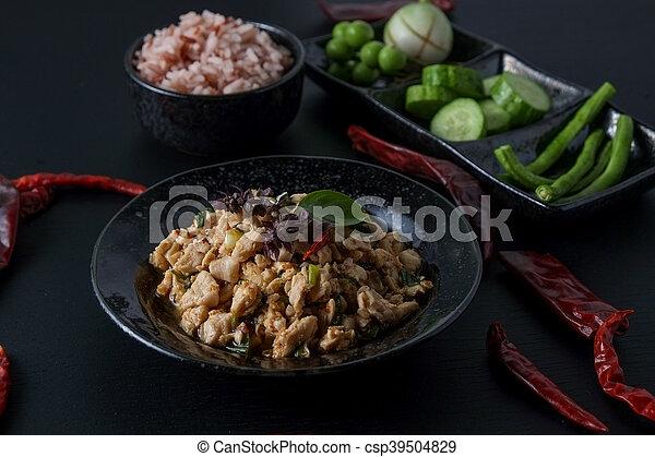 Thai Food Spicy Minced Chicken