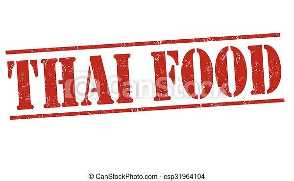 Thai food stamp - csp31964104